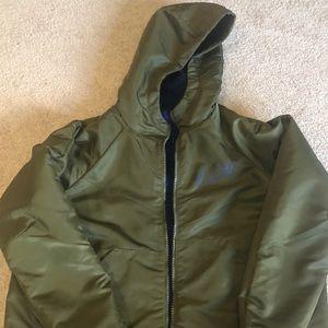 Nike Sportswear Jacket with hood . Reversible !